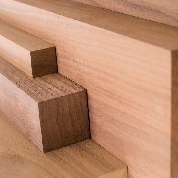Walnut wood cut to various lengths