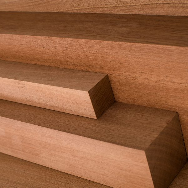Sapele wood cut to various lengths