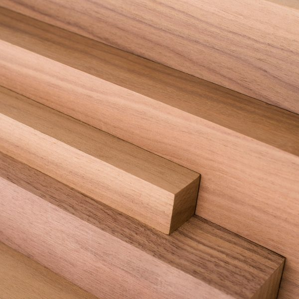 Walnut wood cut to various lengths