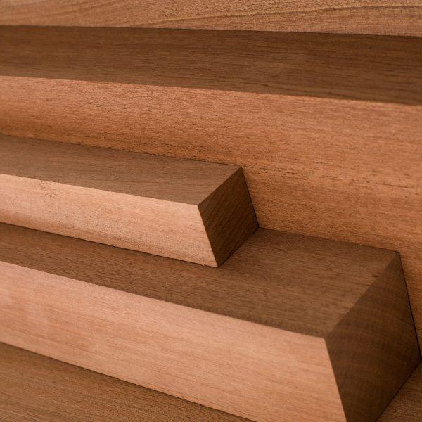 Sapele wood cut to various lengths